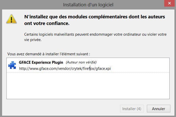 Le plugin est compatible avec Firefox 18.0.2