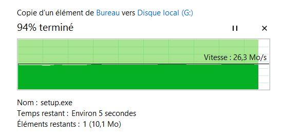 1 fichier de 190mo en USB 2