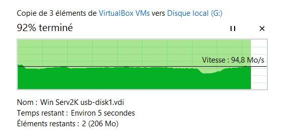 1 fichier de 2,7go en USB 3