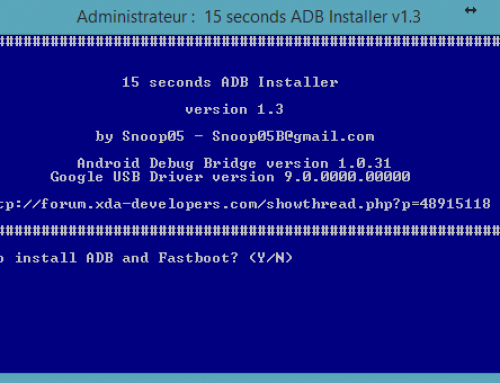 Installer ADB et Fastboot sous Windows