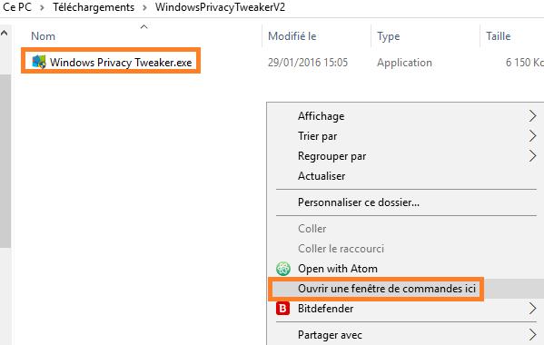Nettoyer windows 10 et supprimer ses trackers nouvelle for Fenetre de commande