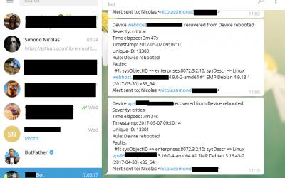 Recevoir ses alertes LibreNMS sur Telegram