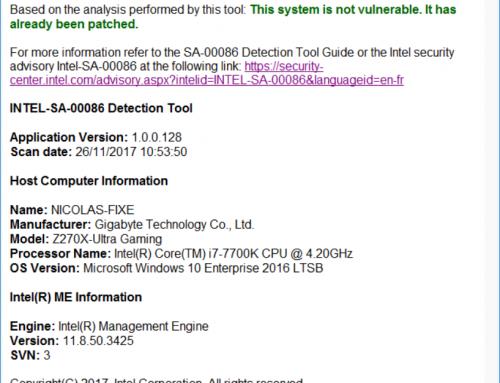 Ma croisade pour patcher l'Intel ME