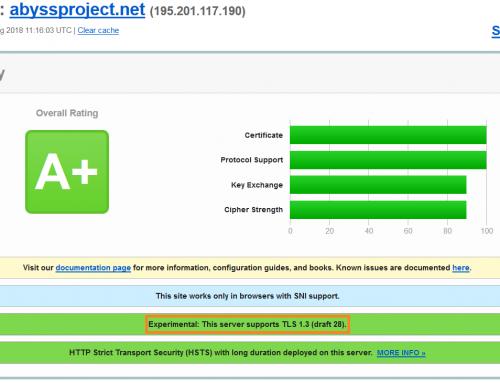 TLS 1.3 avec Nginx et Debian 9