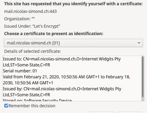 Authentification client avec certificat SSL sous NGINX